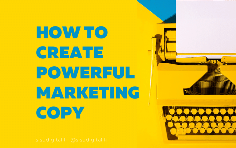 Copywriting 101 - powerful marketing copy